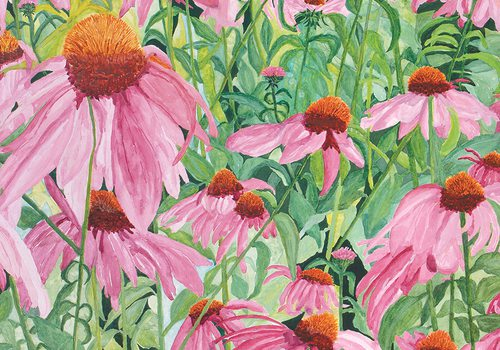 """Andi Snethern's watercolor painting """"Bee-autiful"""""""