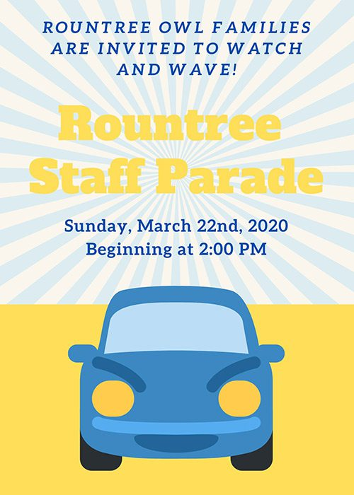 Rountree Elementary School Staff Parade flyer