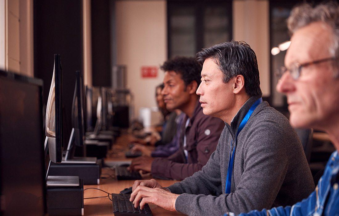 Businessmen continuing education