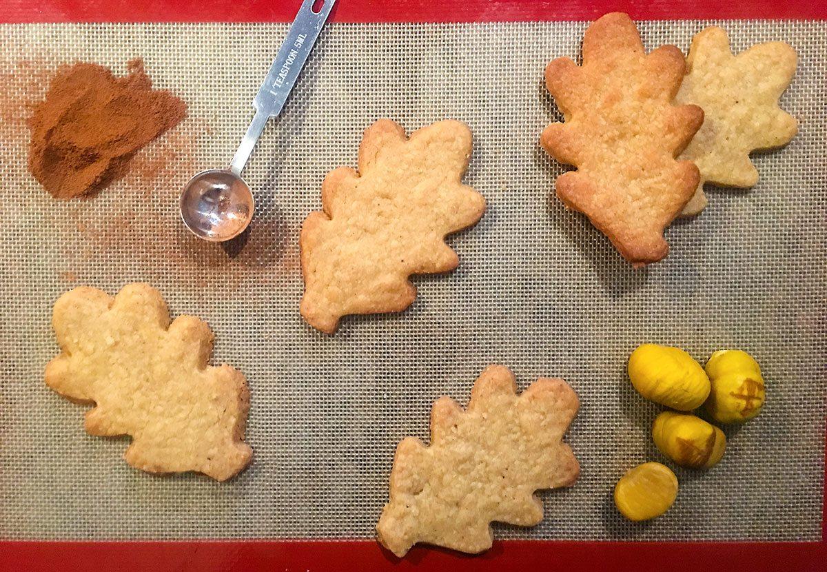 Chestnut Shortbread Cookies
