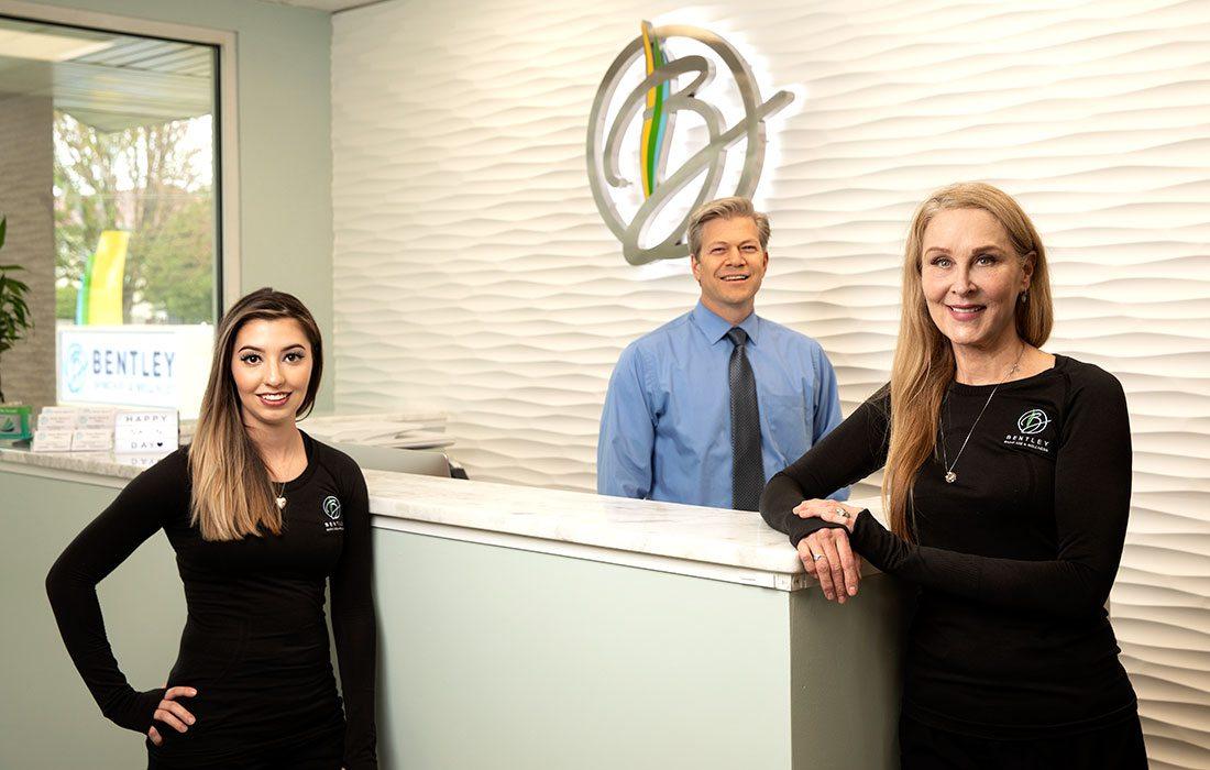 Cristy Rodriguez; Brendon Delport, D.O.; Clementine Bentley of Bentley Skincare in Springfield MO