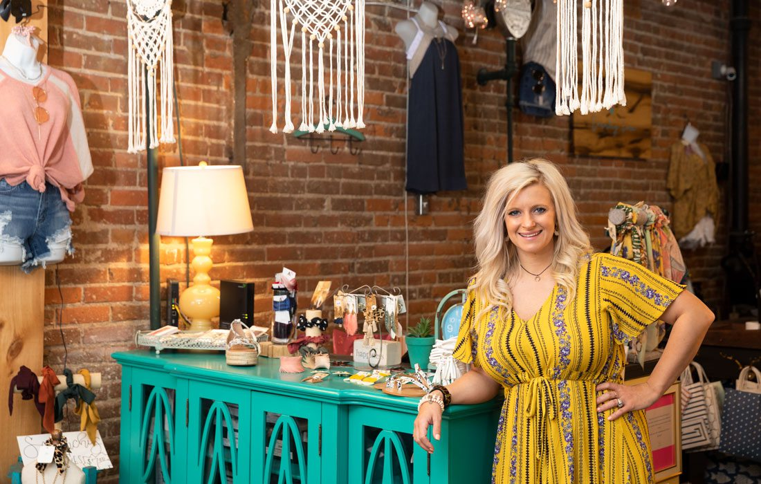 Lacey Allison, owner of Country Lace Boutique in Bolivar MO