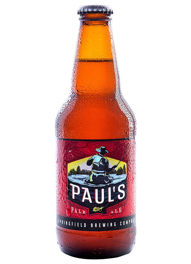 bottle of Paul's Pale Ale from Springfield Brew Co.