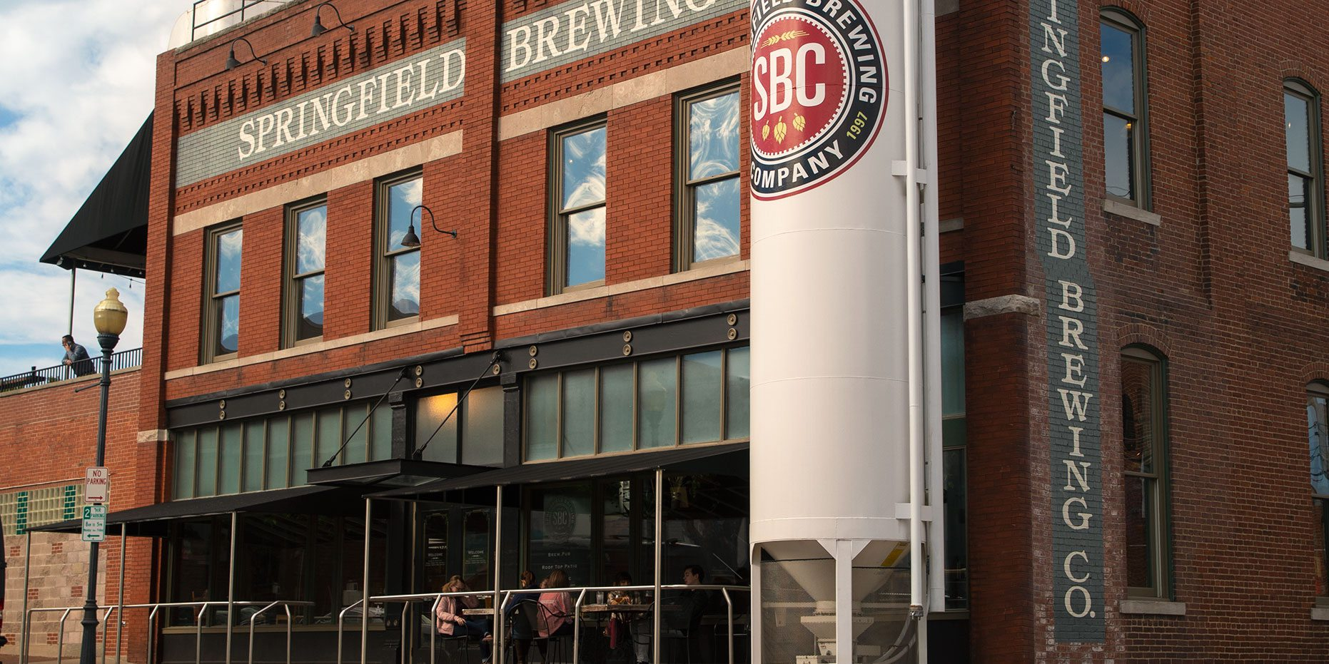 Springfield Brew Co. exterior with patio seating