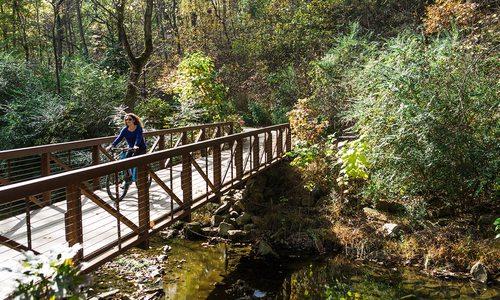 Biking in Bentonville, AR Crystal Bridges