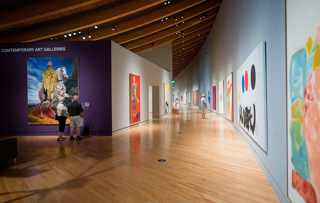 Crystal Bridges Museum interior photo