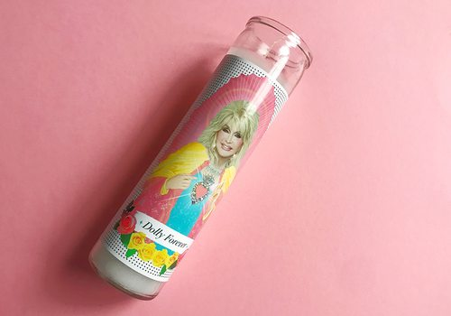 Dolly Parton candle from Culture Flock in Springfield MO