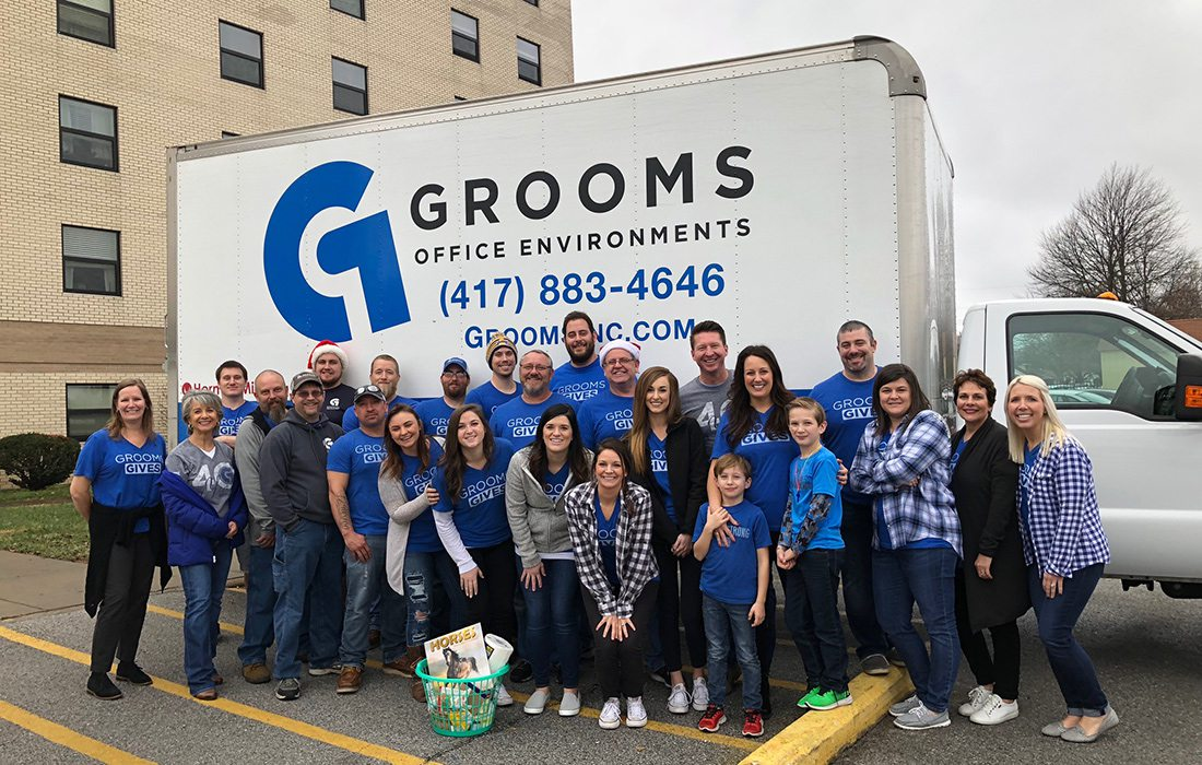 Grooms Office Environments Giving Back within the Community