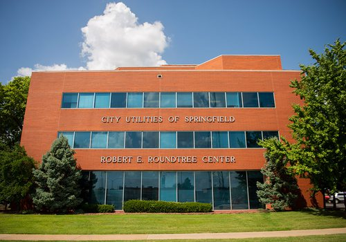 Exterior photo of City Utilities office