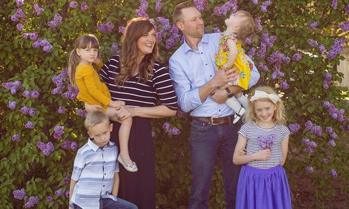 Katie Day with husband and kids