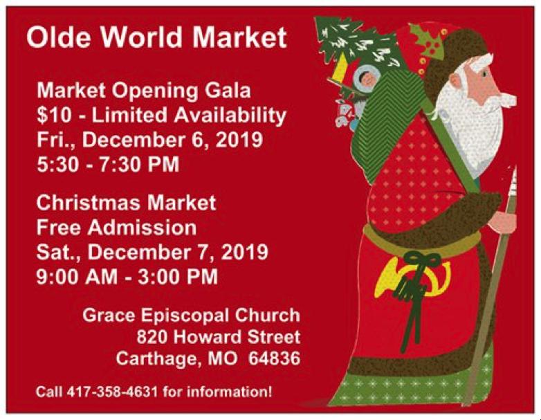 Olde Christmas Market in Carthage, MO.