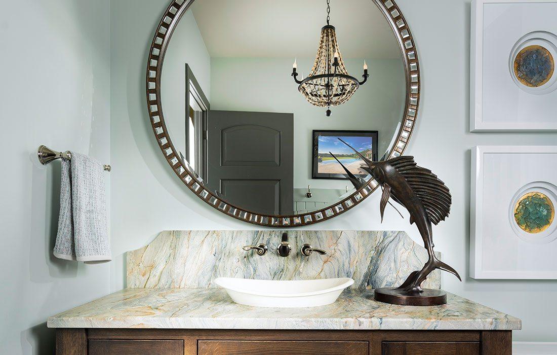 Vanity and Mirror of Ocean Bathroom