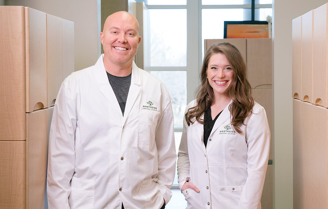 Derek Kaelin and Hillary Smith of Northside Dental Clinic and James River Dental in Springfield MO