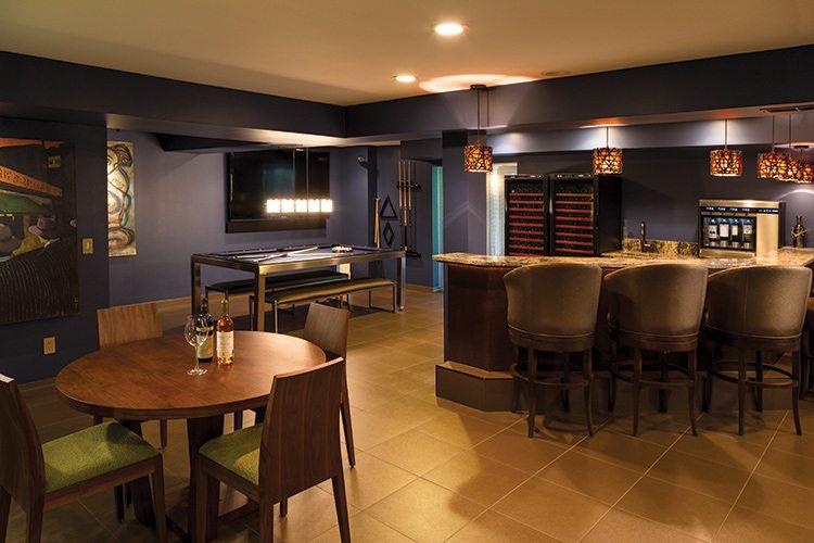 417 Home Design Awards 2015 - Family Room Winner: Game Room