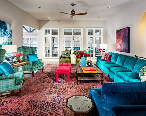 417 Home Design Awards 2019 Winner of Best Use of Color in a Living Room by Obelisk Home Springfield MO
