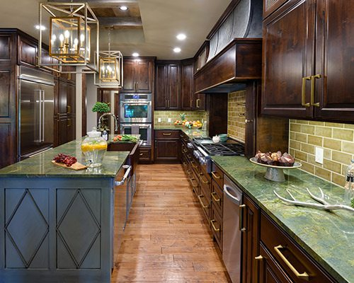 417 Home Design Awards 2019 Winner of Best Use of Color in a Kitchen by Rock Solid Renovations Springfield MO
