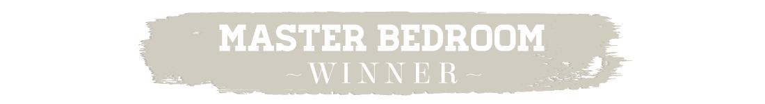 417 Home Design Awards 2015 - Master Bedroom Winner Text