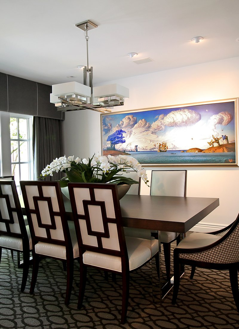 Photos By Bradley Wilkinson Dining Room: Buxton Designed The Formal Dining  Room Around One Of The Homeownersu0027 Favorite Pieces Of Artwork, Which Serves  As ...