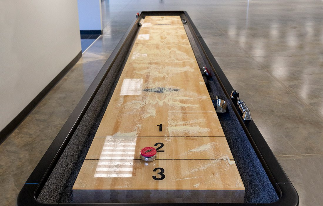Shuffleboard at Digital Monitoring Products in Springfield MO