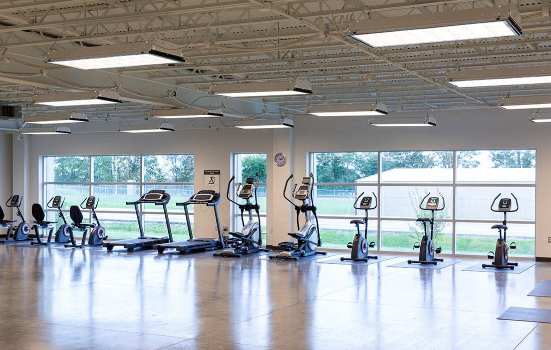 Exercise room at Digital Monitoring Products in Springfield MO