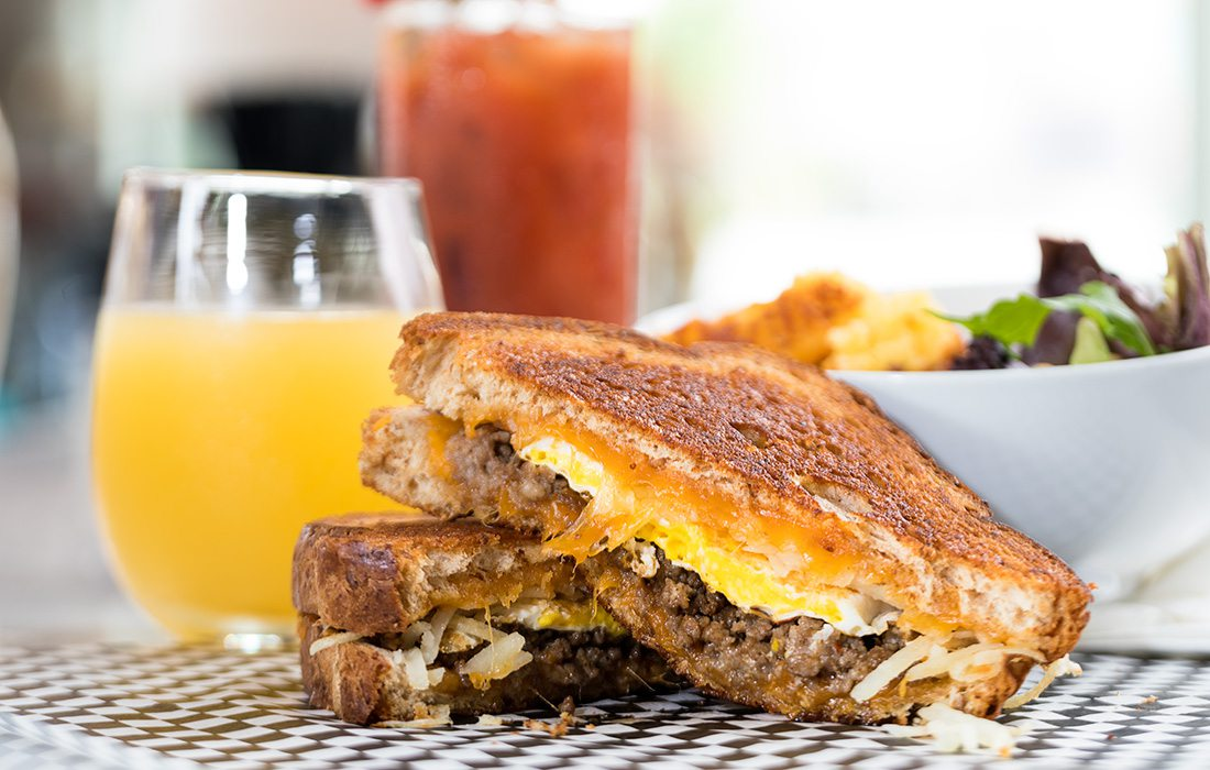 breakfast grilled cheese at druff's in downtown springfield