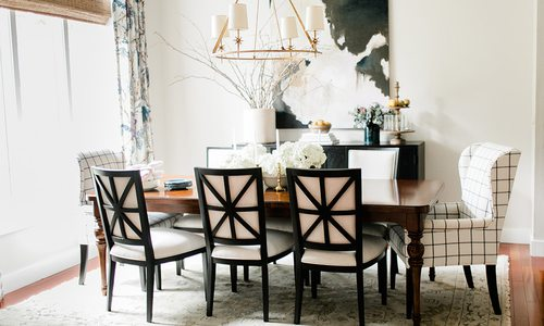 Dining room design by Crystal Spriggs Interior Design in Springfield MO