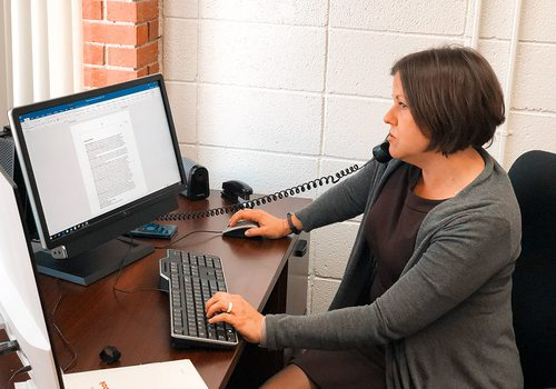Robin Soster working at Drury University