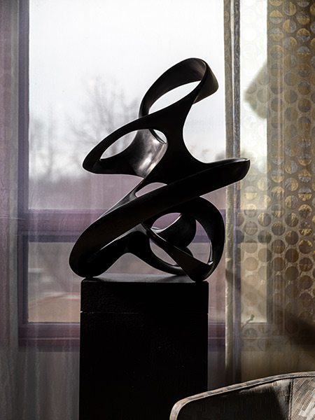 Bonded graphite piece by sculptor Jacob Burmood