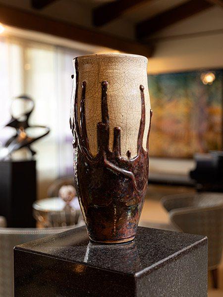 Jacob Burmood pottery vase