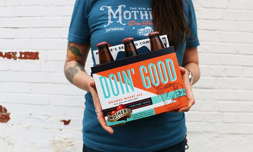 Six pack of Mother's Brewing Co. Doin' Good beer
