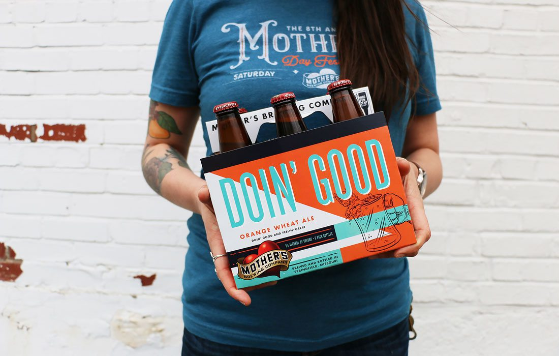 A six pack of Mother's Brewing Co.'s Doin' Good beer