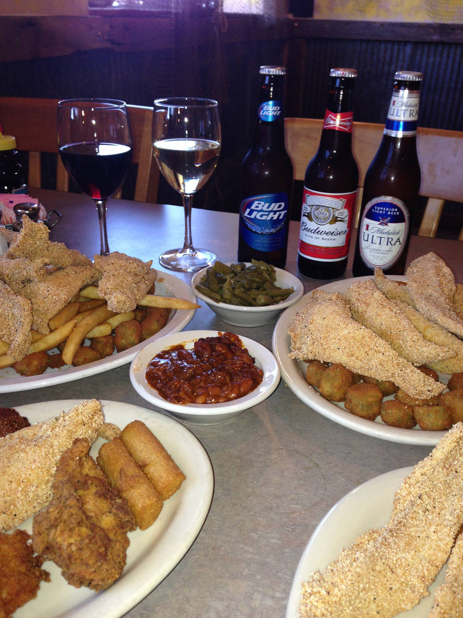 Enjoy some southern eats and pair it with one of the many sides like coleslaw, fried okra or corn on the cob.