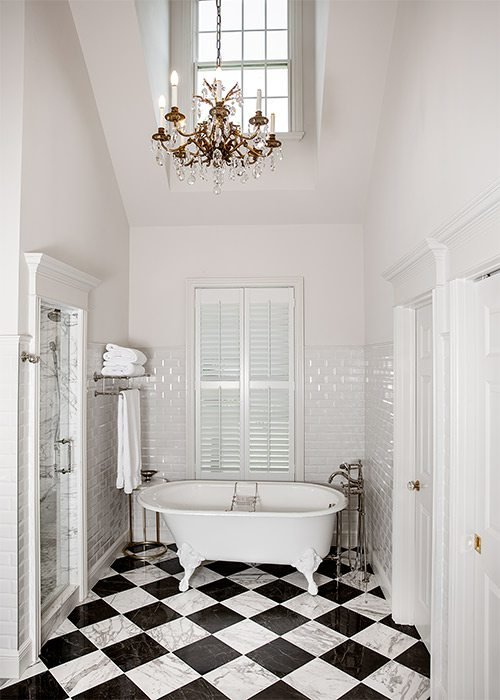 Black and White Bathroom Remodel by Built by Brett in Springfield MO