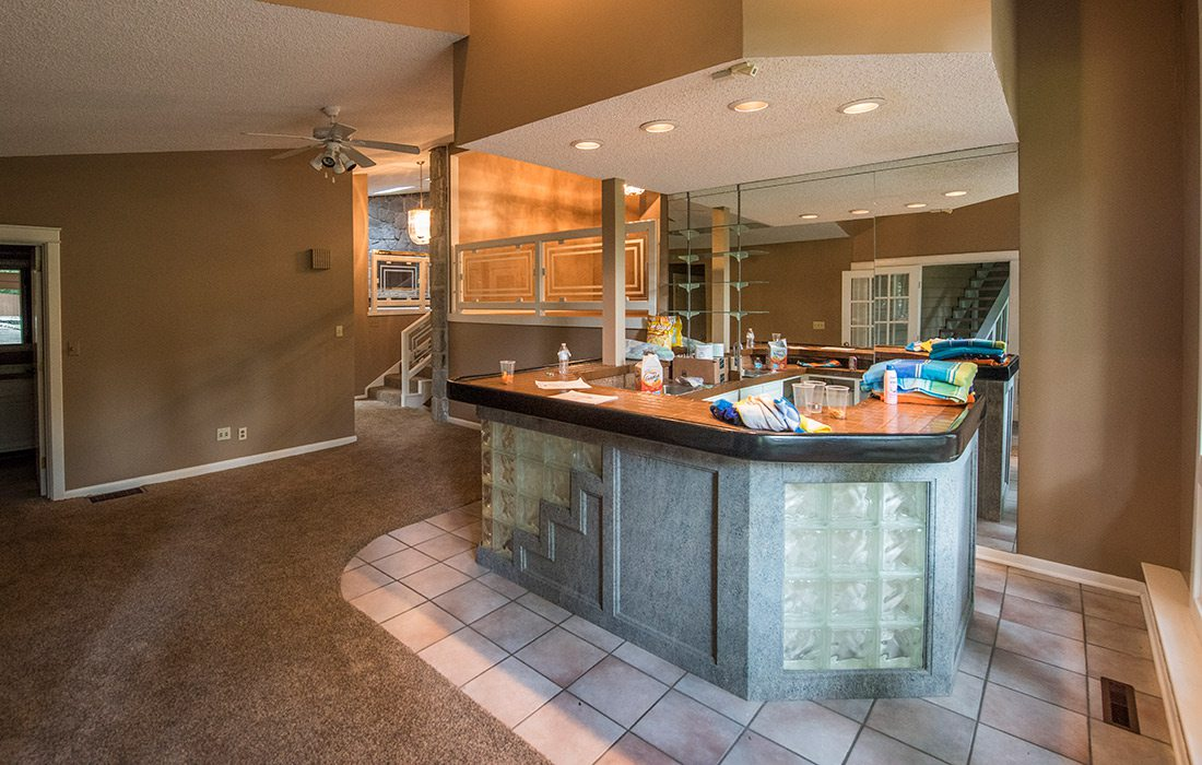 Midcentury Modern Home Remodel by Monticello Custom Homes and Remodeling in Springfield MO Before Image