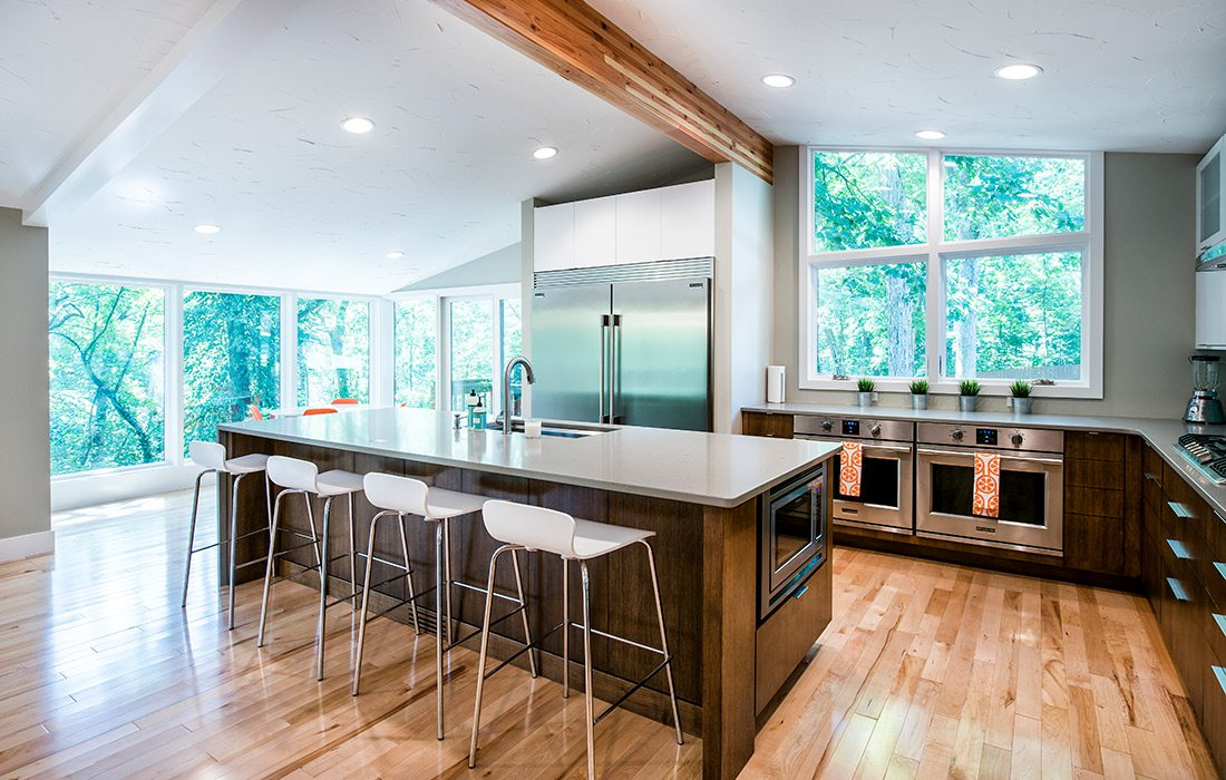 Midcentury Modern Home Remodel by Monticello Custom Homes and Remodeling in Springfield MO