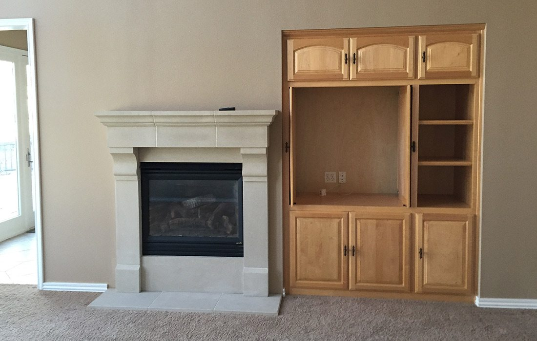 Statement Fireplace Remodel by Refine Studios in Springfield MO Before Image