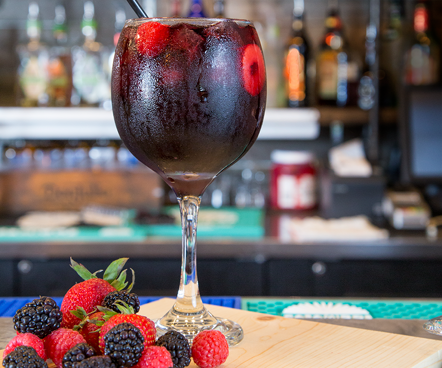 La Paloma Grill's black sangria is refreshing on a summer day.