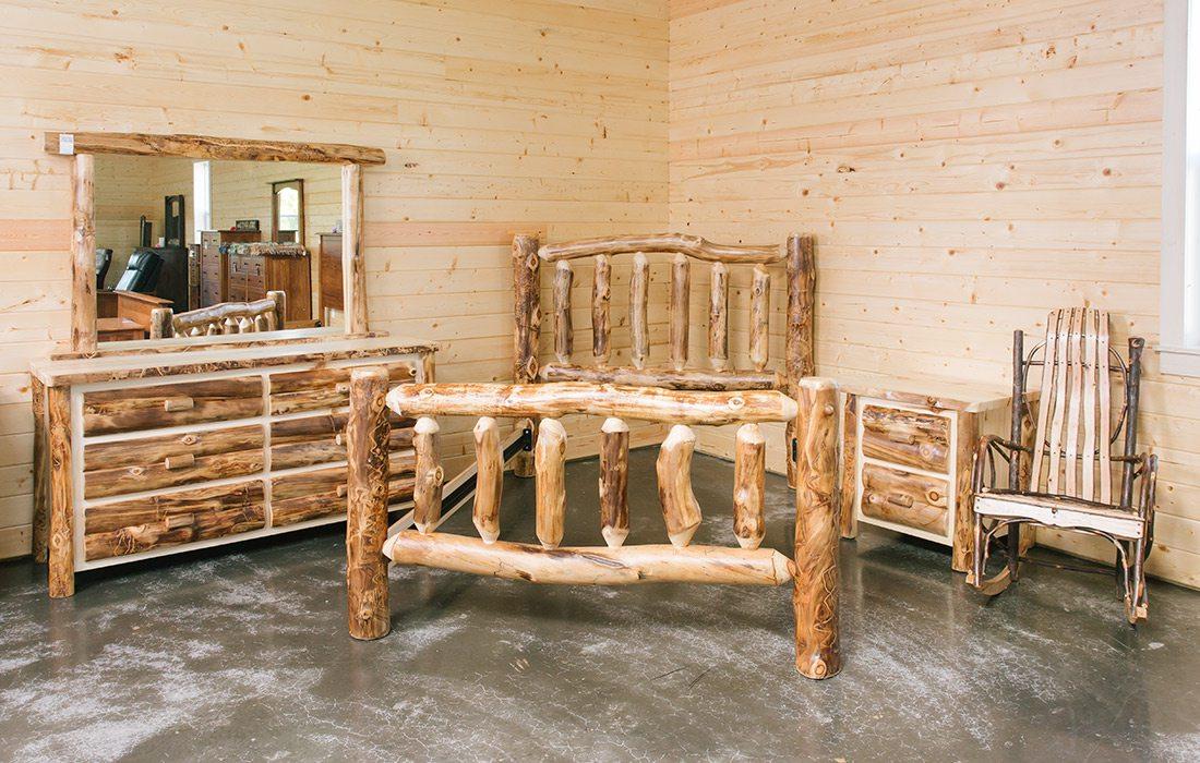 Rustic bedroom set by Dutchman's Furniture in Missouri