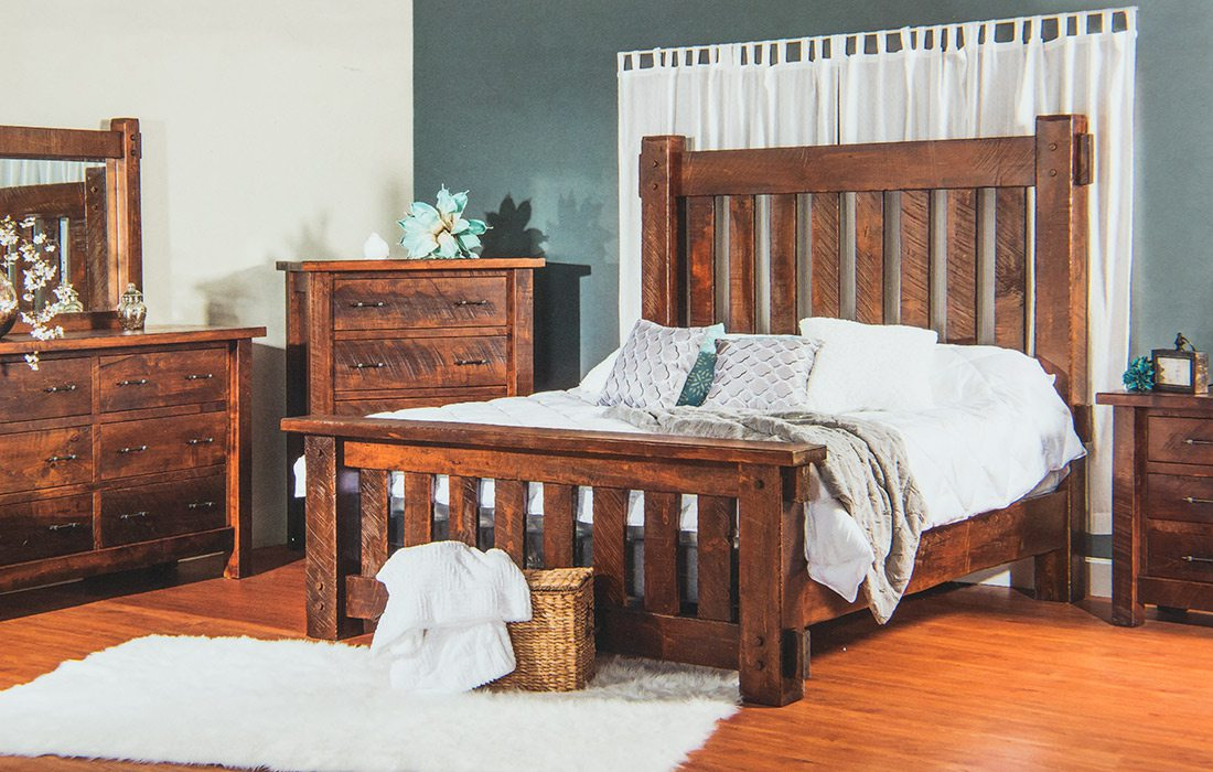 Rustic bedroom set by Dutchman's Furniture in Missouri