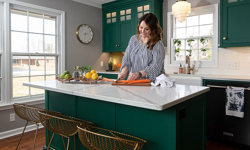 Emily Johnson | Modern Kitchen Renovation in 1960s Colonial Home