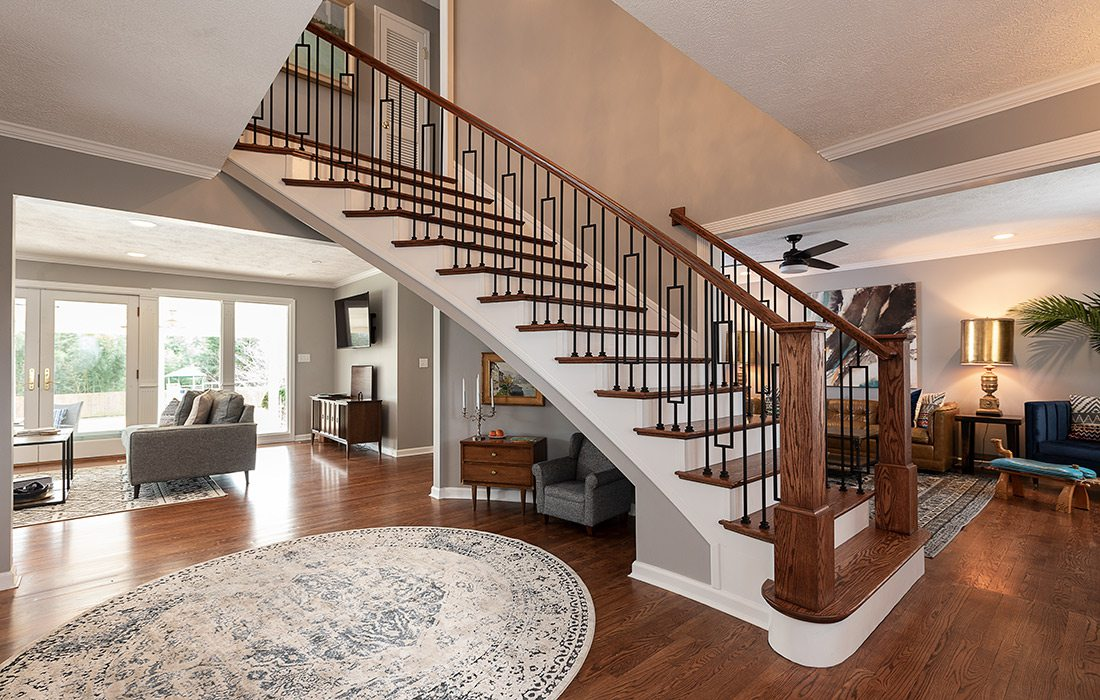 Emily Johnson - Colonial Renovation - Staircase - By Brandon Alms