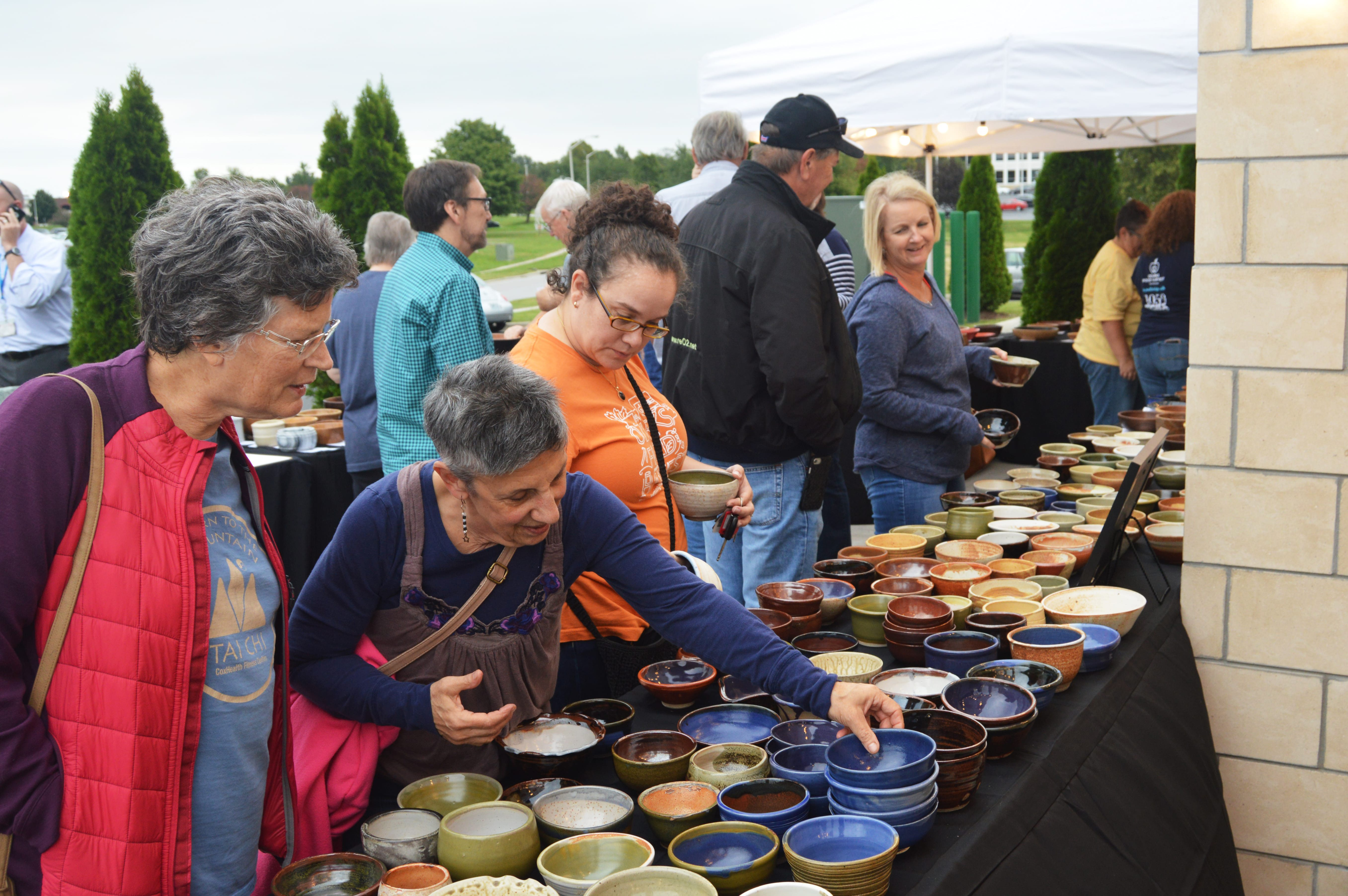 Annual Empty Bowls Event in Springfield, MO.