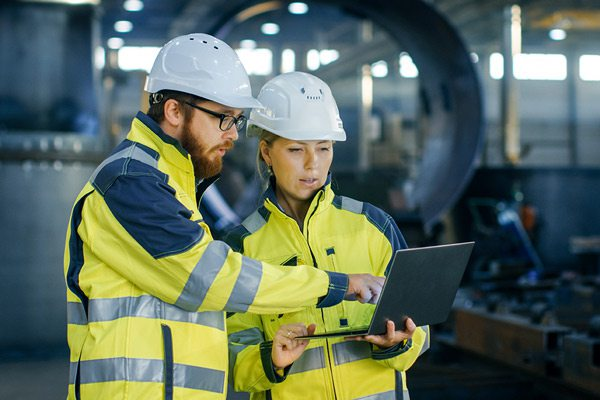 Manufacturing engineers stock image