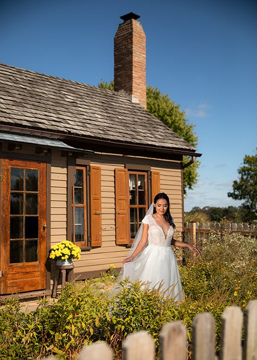 Lace Carmelita gown from Tesori