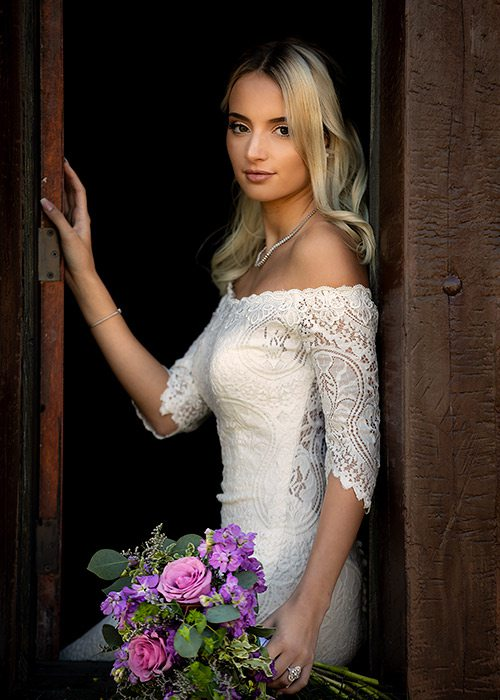 Lace Raven gown from Normans Bridal in Springfield MO