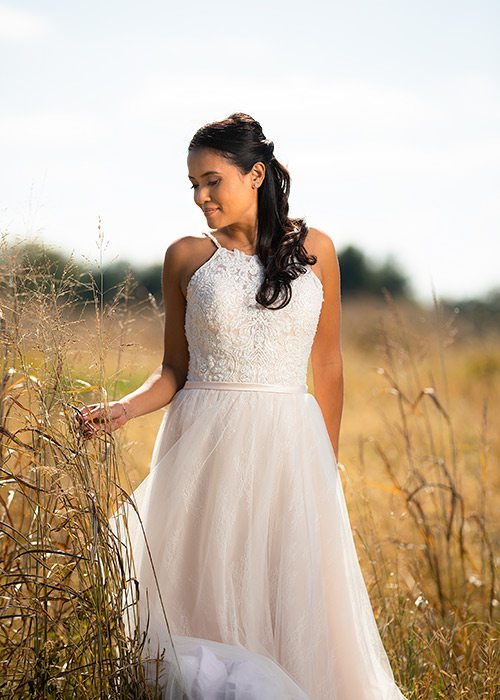 Champagne Jaxon gown from Normans Bridal in Springfield MO