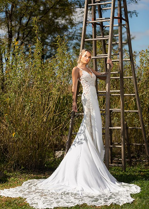 Lace Anastasia gown from Normans Bridal in Springfield MO