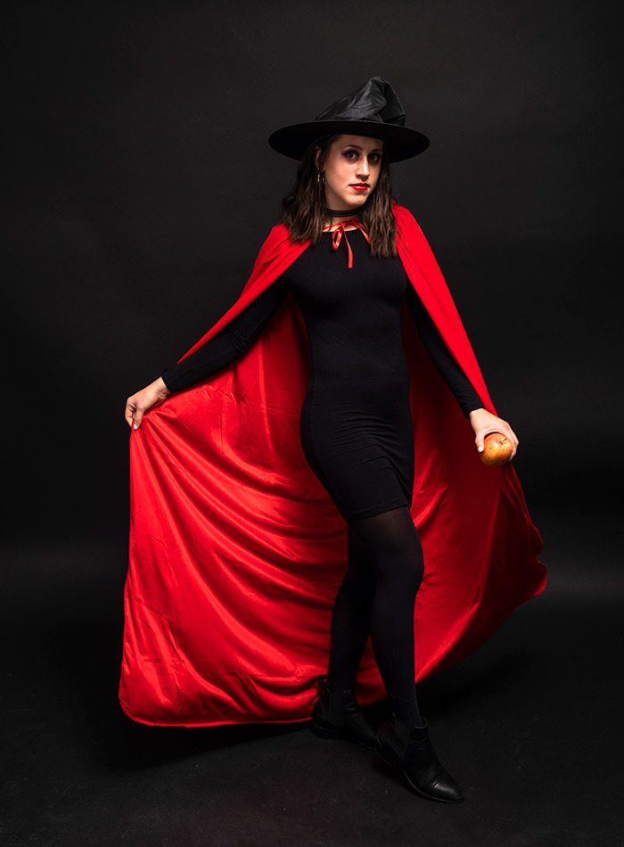 Erin Carleton as a witch for Halloween 2019