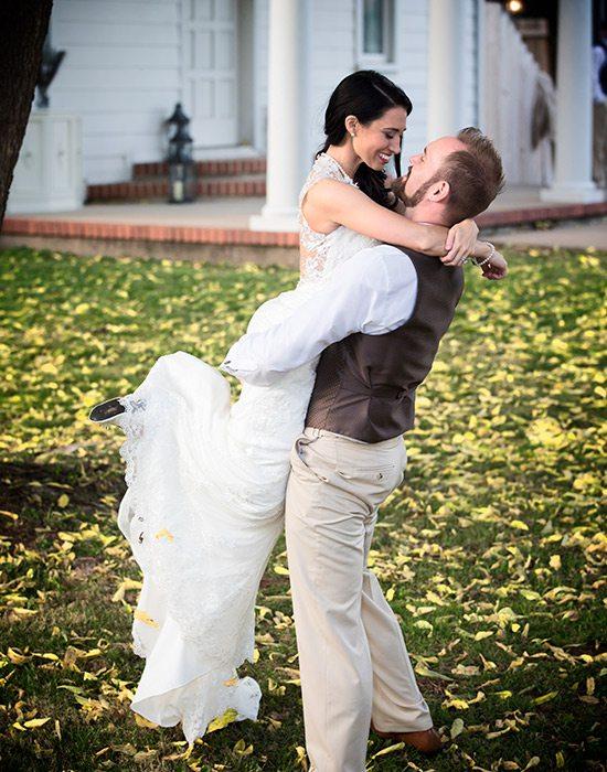 Bride and groom at Heritage Chapel & Reception Venue