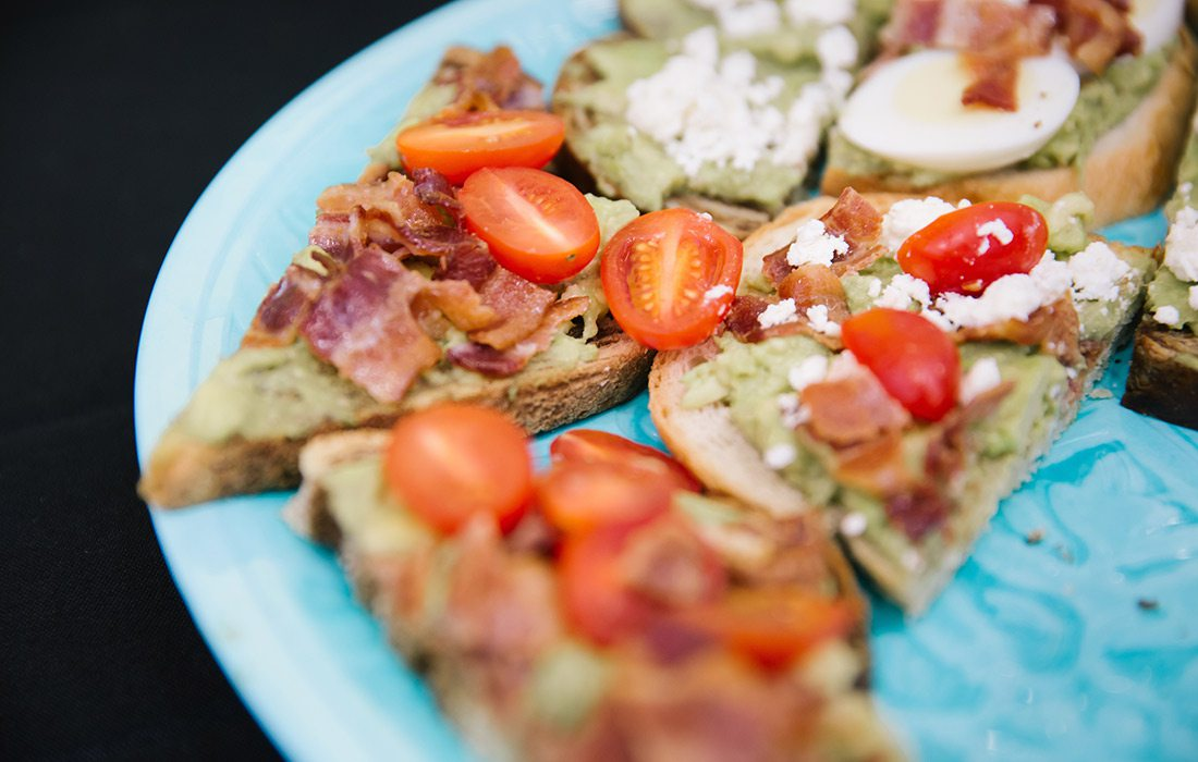 Avocado toast appetizer by Simply Delicious Catering in Springfield MO